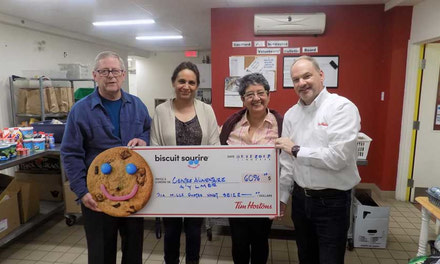 {Tim Hortons donation to the Aylmer Food Bank}